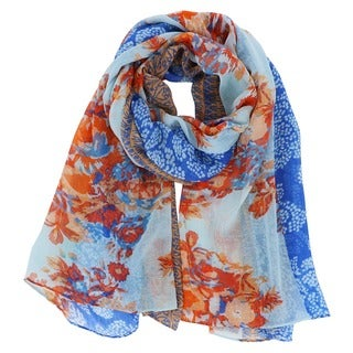 LA77 Floral Fantasy Woven Long Scarf (4 options available)
