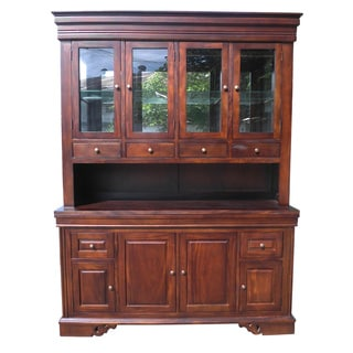 D-Art Dark Mahogany West Point Hutch (Indonesia)