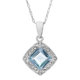 Journee Collection Sterling Silver Cubic Zirconia Diamond Accent Pendant
