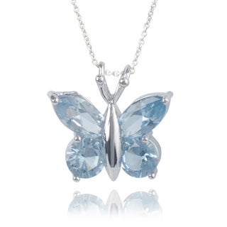 Journee Collection Sterling Silver Cubic Zirconia Butterfly Pendant