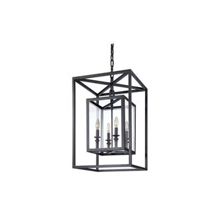 Link to Morgan 4-light Bronze Pendant with Clear Glass Similar Items in Pendant Lights