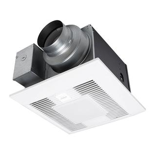 Whisper Green Select 50/80/110 CFM Customizable Ceiling Exhaust Bath Fan with LED Light, ENERGY STAR