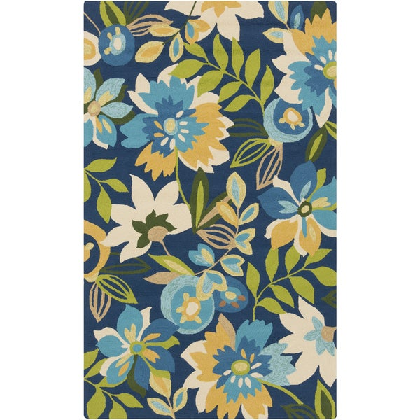Hand-Hooked Cody Floral Area Rug - 9' x 12'