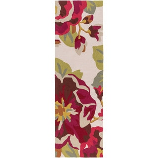 Hand-Hooked Deon Floral Rug (2'6 x 8