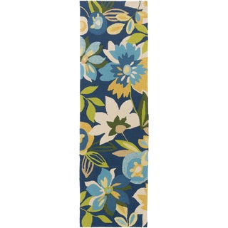 Hand-Hooked Cody Floral Rug (2'6 x 8