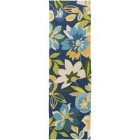 Hand-Hooked Cody Floral Area Rug - 2'6 x 8'