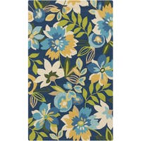 Hand-Hooked Cody Floral Area Rug - 2' x 3'