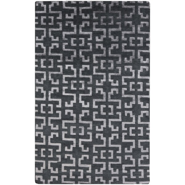 Hand-Knotted Angeline Geometric Indoor Area Rug - 2' x 3'