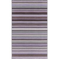 Hand-Woven Darryl Stripe Wool Area Rug - 2' x 3'