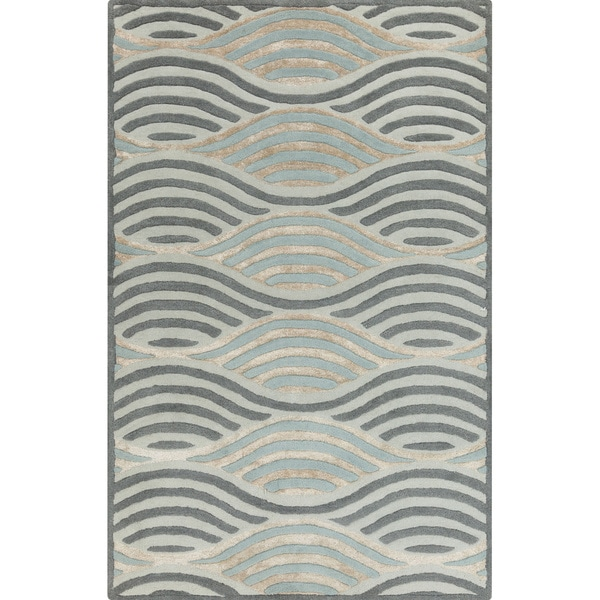 Hand-Tufted Addilyn Contemporary Wool Area Rug - 2' x 3'