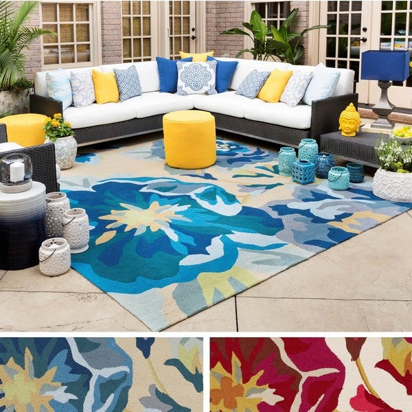Hand-Hooked Deon Floral Area Rug - 9' x 12'