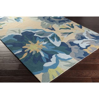 Hand-Hooked Deon Floral Rug (9' x 12