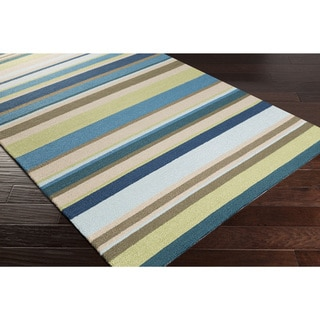 Hand-Hooked Alan Stripe Rug (9' x 12