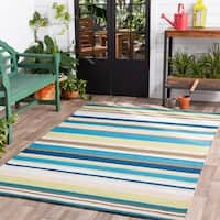 Hand-Hooked Alan Stripe Area Rug