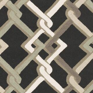 Hand-Hooked Aldo Geometric Rug (9' x