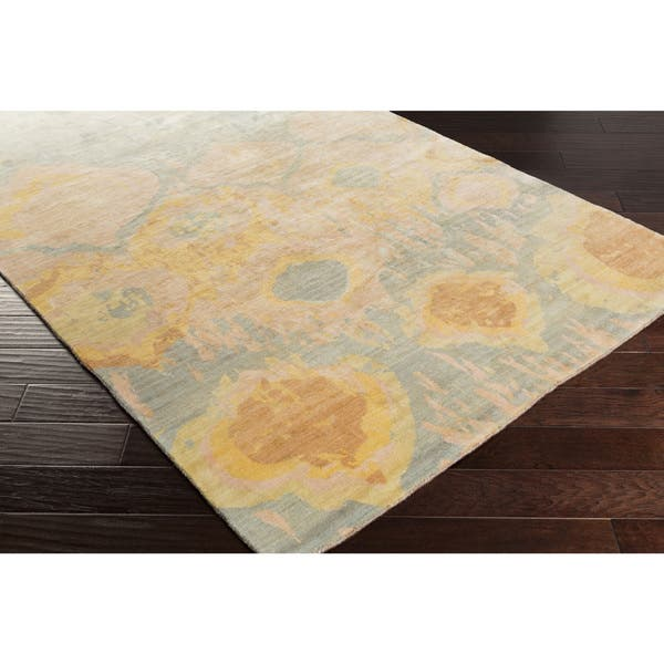 Hand Knotted Anna Abstract Wool Area Rug On Sale Overstock 10052484 8 X 11 Magenta