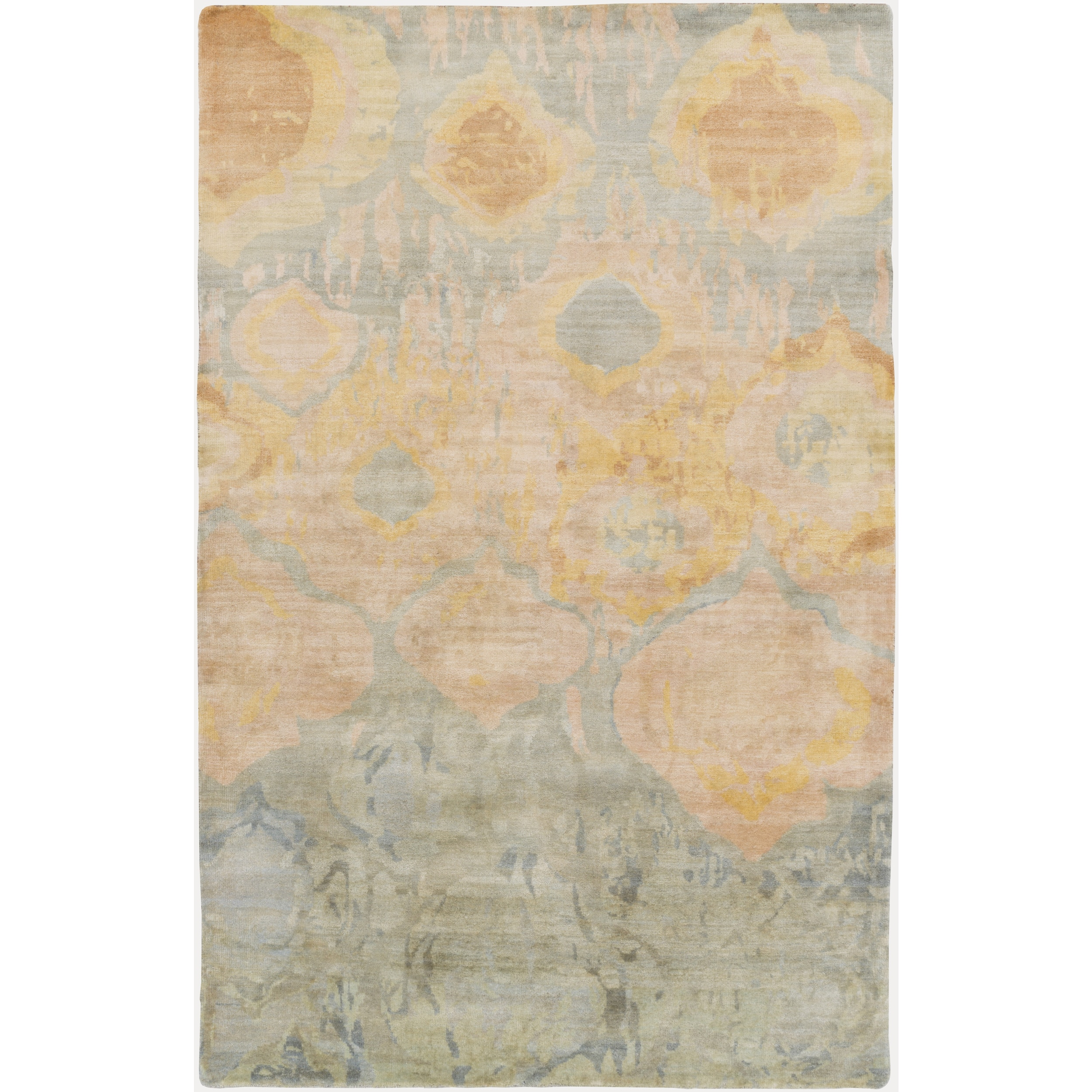 Hand Knotted Anna Abstract Wool Area Rug Overstock 10052484 8 X 11 Magenta
