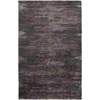 Hand-Knotted Arely Geometric Viscose Area Rug - 8' x 11'