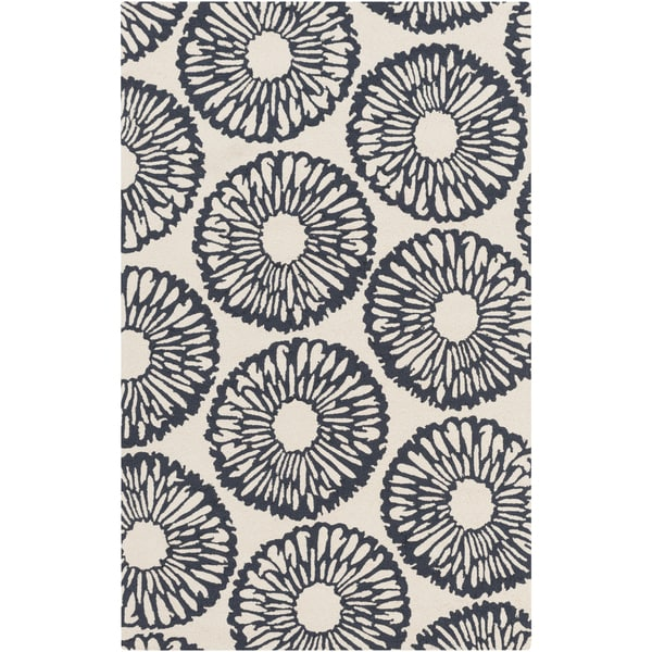Hand-Hooked Cole Floral Area Rug