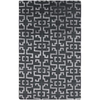 Hand-Knotted Angeline Geometric Indoor Rug (9' x 13')