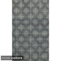 Hand-knotted Adyson Moroccan Trellis Wool Area Rug (8' x 11')