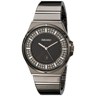 Seiko Women's SXDG35 Stainless Steel  Watch with 84 Champagne Austrian Crystals