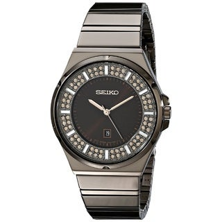 Seiko Women's SXDG35 Stainless Steel Watch with 84 Champagne Austrian Crystals|https://ak1.ostkcdn.com/images/products/10052517/P17196505.jpg?_ostk_perf_=percv&impolicy=medium