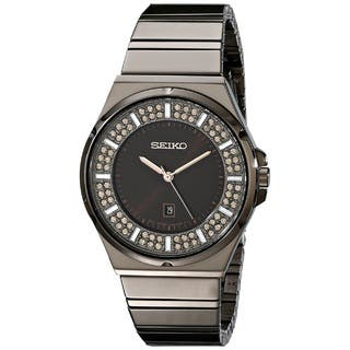 Seiko Women's SXDG35 Stainless Steel Watch with 84 Champagne Austrian Crystals|https://ak1.ostkcdn.com/images/products/10052517/P17196505.jpg?impolicy=medium