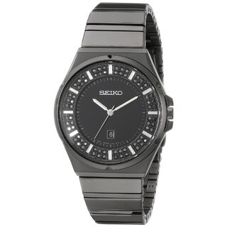 Seiko Women's SXDG37 Stainless Steel Watch with 84 Austrian Crystals