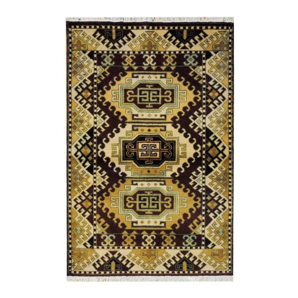 Herat Oriental Indo Hand-knotted Tribal Kazak Wool Rug (3'2 x 4'10) - 3'2 x 4'10