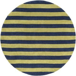 Hand-Tufted Copeland Stripe Polyester Rug (8' Round)