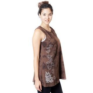 Handmade Women's Tie Dye Lotus Dress (Nepal)