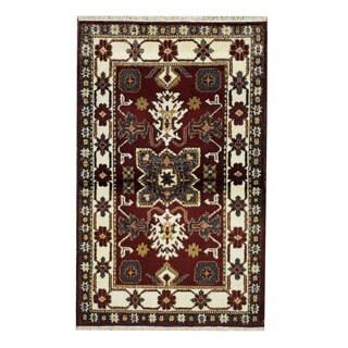 Herat Oriental Indo Hand-knotted Tribal Kazak Wool Rug (3'4 x 5'2)