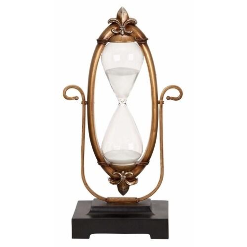 Studio 350 Polyresin Glass 60-minutes Hourglass Unique Na...