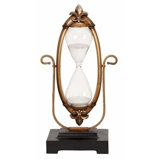 Gracewood Hollow Choy Polyresin Glass 60-minutes Hourglass Unique Nautical Decor