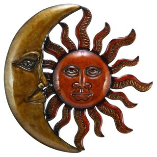 metal sun moon wall decor discounted wall art free shipping on orders over 45 overstock. Black Bedroom Furniture Sets. Home Design Ideas