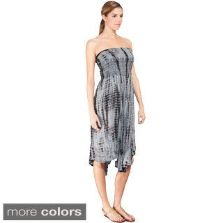 Women's Om Tie-Dye Pattern Convertible Tube Dress/ Skirt (Nepal)
