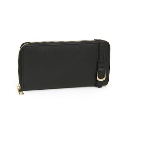 Rebecca and Rifka Saffiano Faux Leather Zip Around Wallet