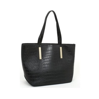 Rebecca and Rifka Croc Embossed Faux Leather Shopper