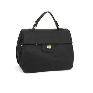 Rebecca and Rifka Faux Leather Top Handle Bag