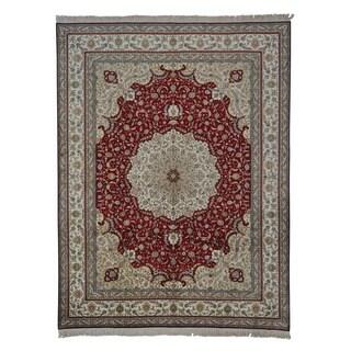 Hand-knotted Kashan Oriental 400 KPSI Area Rug (9' x 11'10)