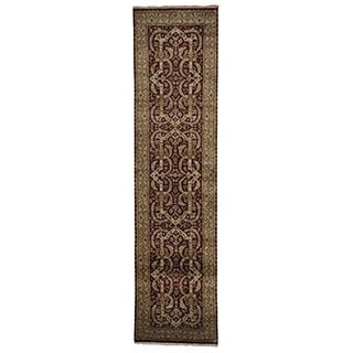 Tabriz Revival New Zealand Wool Oriental XL Runner Area Rug (3'4 x 13')