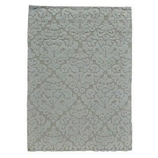 Handmade Rayon from Bamboo Silk Moroccan Berber Oriental Area Rug (5' x 7')