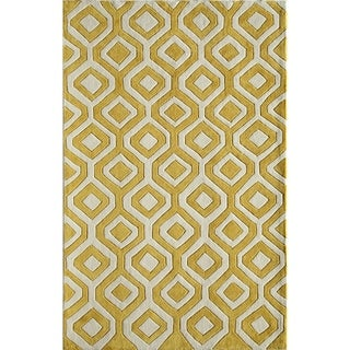 Amore 5423 Yellow Rug (5' x 8')