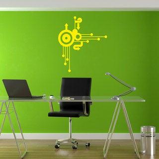 Circle Arrow Urban Decor Yellow Sticker Vinyl Wall Art