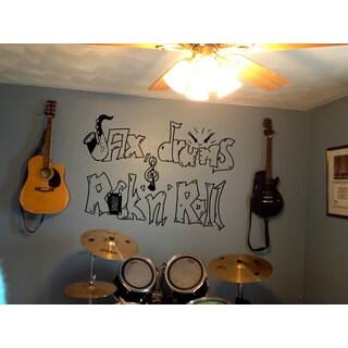 Jax Drums Rock'N'Roll Black Sticker Vinyl Wall Art