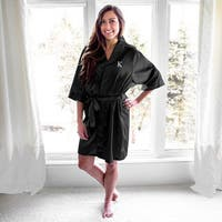 Personalized Black Satin Robe
