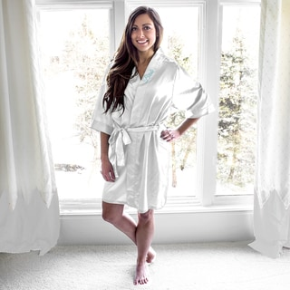 Bride White Satin Robe