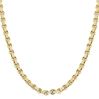 14k Yellow Gold 40 1/4ct TDW Diamond Eternity Cable Chain Necklace (H-I, SI1-SI2)