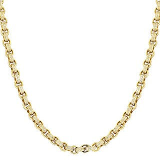 14k Yellow Gold 40 1/4ct TDW Diamond Eternity Cable Chain Necklace